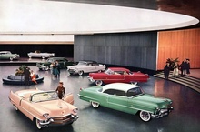 The '56 Cadillacs on display at the newly opened General Motors Technical Center in Warren, ...