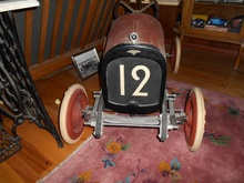 1925 Duesenberg scale Offy-Kurtis child's go kard. 5 ft. long. Only one known. Built to ...