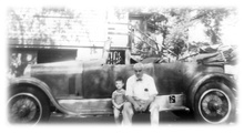 That's me with Dad late 1950s at 77 Main St. Andover, MA. Our 1923 Duesenberg ...