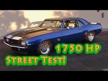 1750 HP 1969 Camaro. Alien Intake TT 427 SBC Street Test from Nelson Racing Engines.