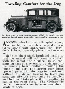 "Traveling Comfort for the Dog (Dec, 1932) Quoted ad text ( hilarious): ""ANYONE who has ..."