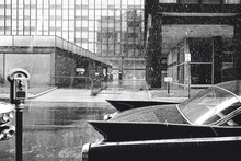1960 image of architect Mies van der Rohe's Lake Shore Drive apartments, Chicago. Photo by ...
