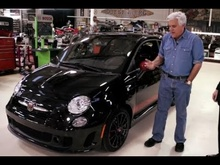 Tim Kuniskis of Fiat North America stops by the garage to test drive the Abarth ...