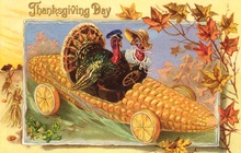 Corn-shaped early vehicle for Thanksgiving.