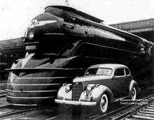 Raymond Loewy and Streamline Moderne: A streamlined K4 steam locomotive that hauled the crack Pennsylvania ...