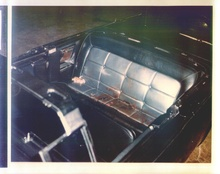 The aftermath: Kennedy's 1961 Lincoln photographed immediately after the assassination.