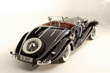A 1936 Mercedes-Benz 540 K Special Roadster. One of only 30 built, it was estimated ...