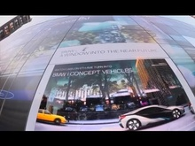 The BMW i Window Into The Near Future digitally transforms passing cars into the all-electric ...