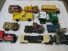 Mixed Lot of Toy Trucks. 7 Buddy L., 1 Tonka, 1 Tootsies, 1 Gay Toys ...