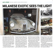 Incredible barn find Alfa Romeo 1900SSZ after a 40-year storage.