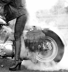 Burnout but dig those leather pants.