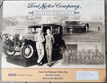 2003 Ford Motor Company calendar for sale on eBay $16.75.