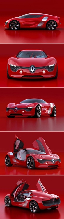 Renault DeZier electric powered concept car. Design cues from the Audi RS but much more ...