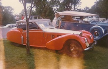 """Dusters"" car show Brookline, MA 1974. Bob Butler's Type 57S Bugatti # 57533S now owned ..."