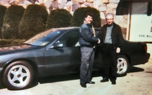 The happy new owner of a 1996 Chevy Impala SS.