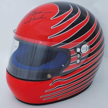 Marlboro Racing School helmet by Bieffe, Italy, late 1990's, autographed by 4-time Indy 500 winner ...