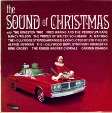 "Album cover for the ""The Sound of Christmas"" featuring 1967 Dodge Coronet."