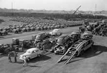 Retro car transporters. Sure, they don't carry as many as the trucks today do, but ...