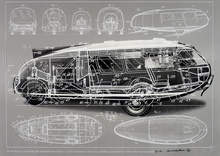 Dymaxion, an advanced vehicle designed by Buckminster Fuller 1933.