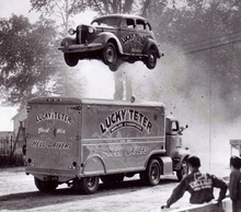 "Earl ""Lucky"" Teter was an American stunt driver in the 1930s and 1940s who was ..."