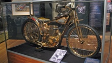 This Golden motorcycle is dubbed 'The Golden Jawa' and is worth its weight in gold. ...