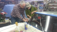 Installing chrome windshield surround to a 1961 Aston Martin DB4. We're talking two pairs of ...