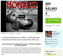 Help support motorsports photographer Jesse Alexander's new book project on Kickstarter.