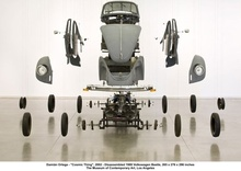 Disassembled VW Beetle 1989.