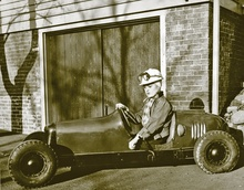 Brother George in our 1939 Custer Car, which we still have. She's powered by an ...