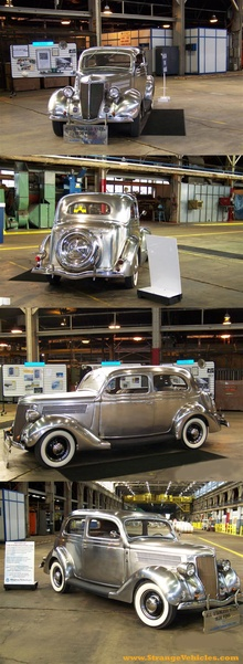 This stainless steel 1936 Ford Tudor Sedan was built for and owned by Allegheny Ludlum ...