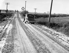 Vermont road scene sometime 1940s. Addison or Chittenden County?
