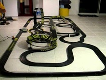 My BIGGEST slot car racing set!! HUGE and even bigger than the last one! 2-tier ...