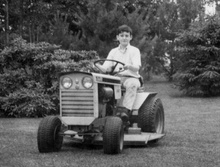 Before driving age I sewed my oats with this 1966 Case lawn tractor. Did we ...