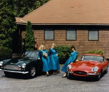 Wedding day, September something-or-other 1988. The three brides maids flanked by my 1959 Aston Martin ...
