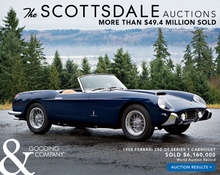 Gooding reports over $49M sold at last week's Scottsdale auction. Full results here.