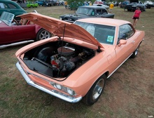 Corvairs were rear-engined, but not this one thanks to a Chevy SBC shoehorned into the ...