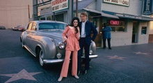Glen Campbell and Bobby Gentry on Vine in front of Nick's Burgers. Capitol Records would ...