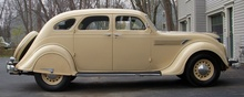 1935 Airflow Chrysler Eight cyl. Model C1. This profile shows the aerodynamic shape of the ...