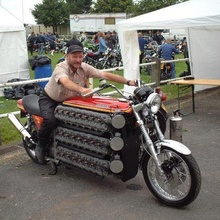 48-cylinder motorcycle. We'd love to hear from anyone with further details on this wild ride.