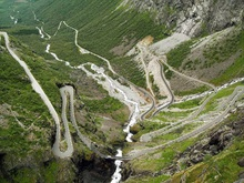 The Trollstigen or 'The Troll Ladder' as it's known in English, is a steep winding ...