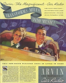 Another great Arvin Radio ad from the 1930s.