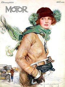 Motor Magazine February 1924 and this fine young lass is awaits her carriage home.