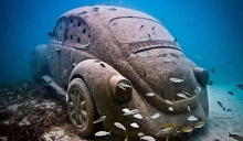 Submerged VW Bug, but I thought they could float?