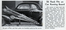 Ski rack fits on running board, vintage style all the way 'cept how does the ...