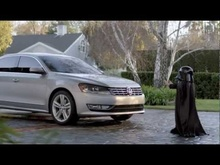 A pint-sized Darth Vader uses the Force when he discovers the all-new 2012 Volkswagen Passat ...
