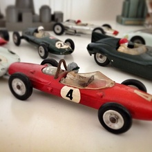 Cool vintage toy cars.