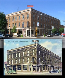 The Auburn Hotel, then and now!